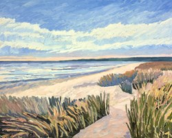 Dunes by Leila Barton - Original Painting on Box Canvas sized 39x32 inches. Available from Whitewall Galleries